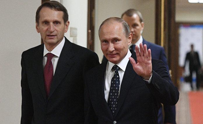 Нарышкин и Путин.
